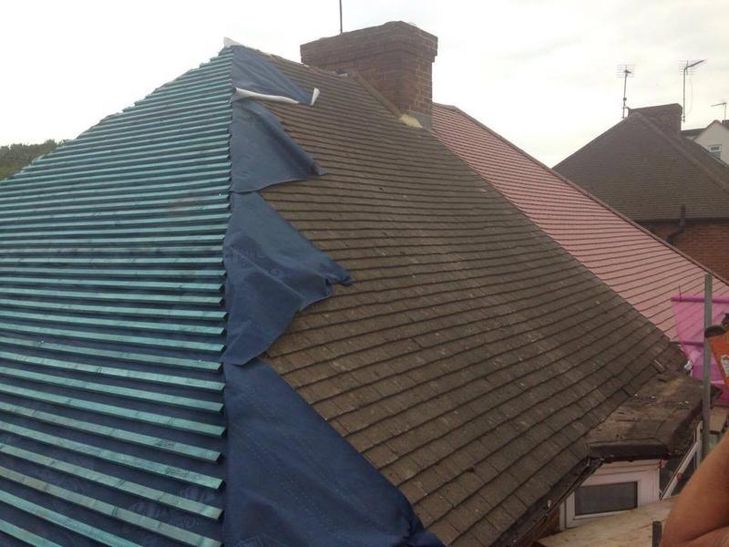 Image 89 - Newly Tiled Roof in progress