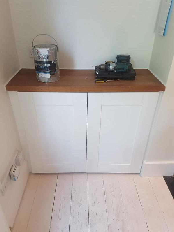 Image 22 - Bespoke kitchen cupboards to fit into alcove openings. To match existing kitchen.