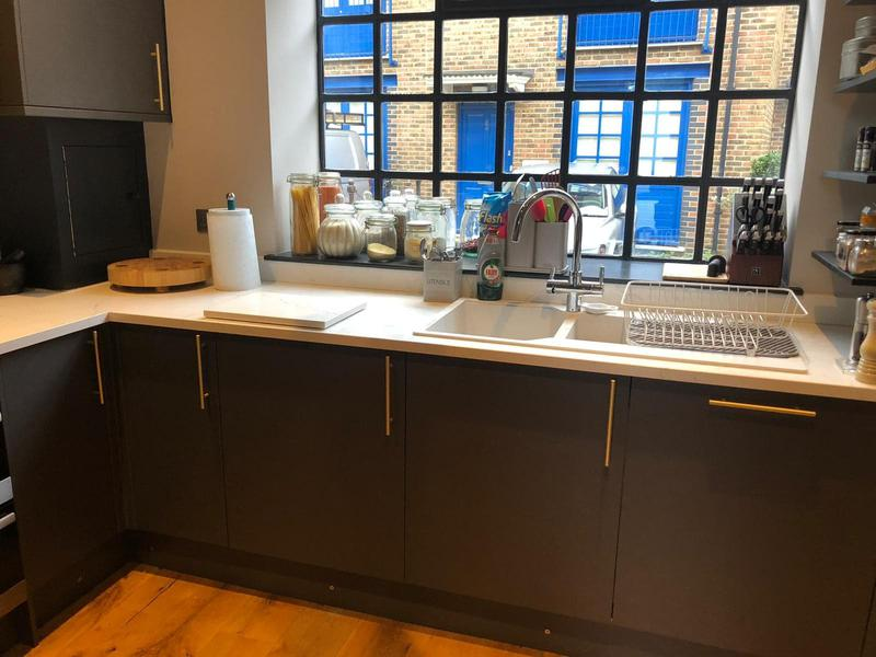 Image 25 - Small, compact kitchen install. Finished with marble worktops & splashbacks