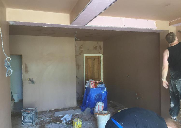 Image 43 - All new extension boarded and skimmed floor had to be screeded