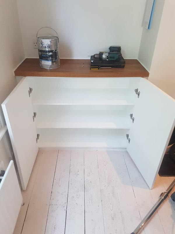 Image 23 - Bespoke kitchen cupboards to fit into alcove openings. To match existing kitchen.