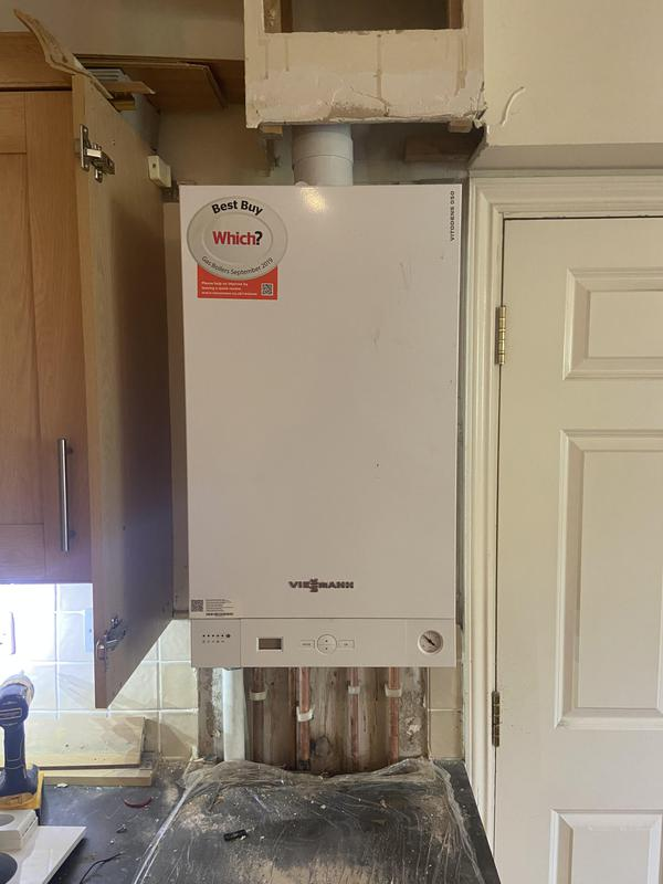 Image 27 - In with the new Viessmann combination boiler installation