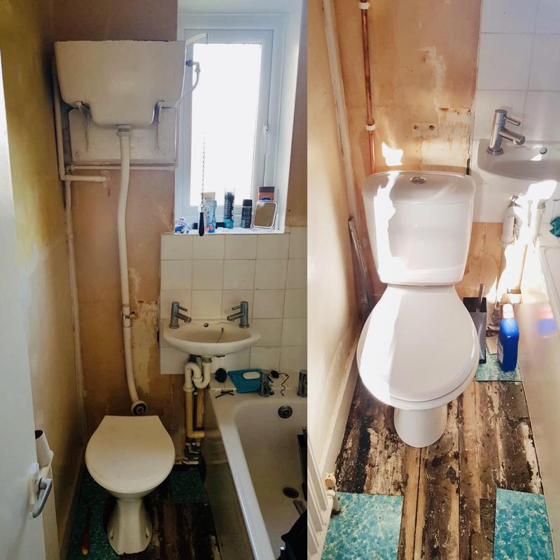 Image 11 - new toilet installation-looks 10 times better compared to the old toilet unit