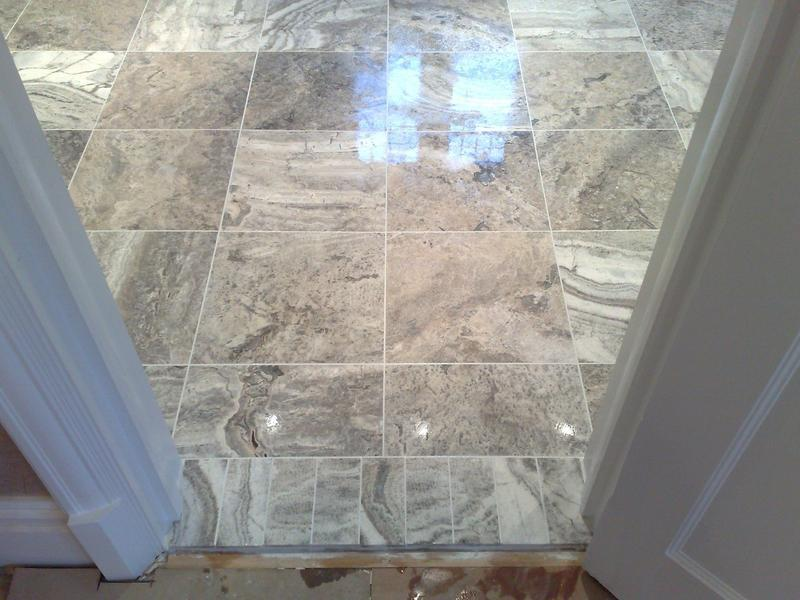 Image 15 - Silver Travertine Walls and Floor