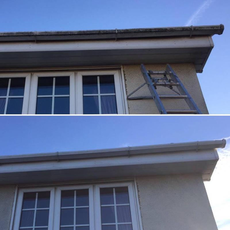 Image 93 - Before and After cleaning of guttering