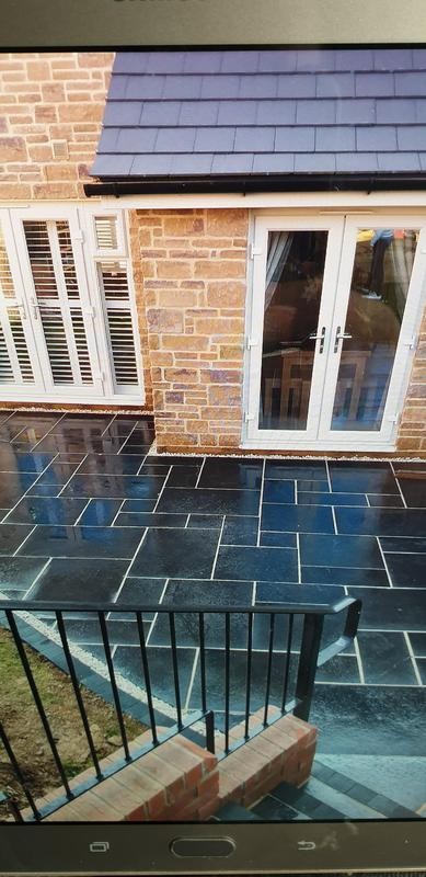 Image 25 - new slate patio northampton