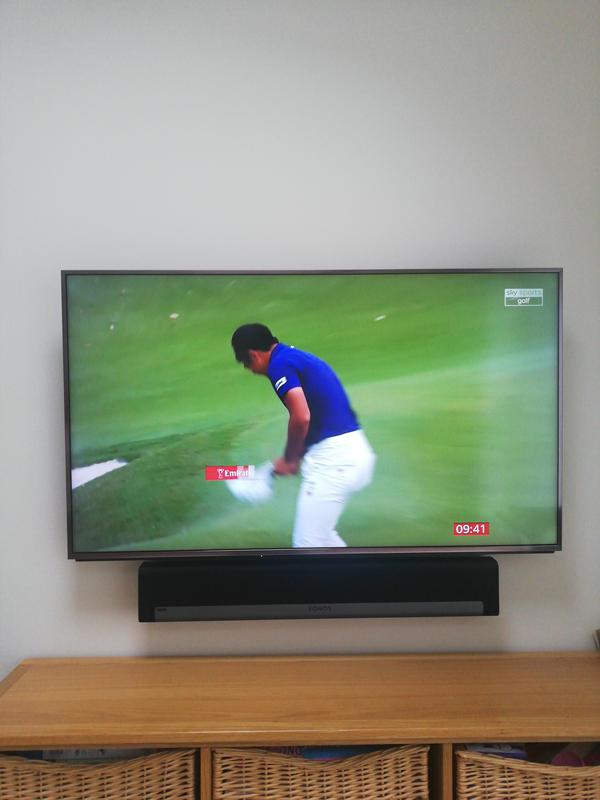 Image 14 - New TV and sonos sound bar fitted to wall bracket for perfect viewing.