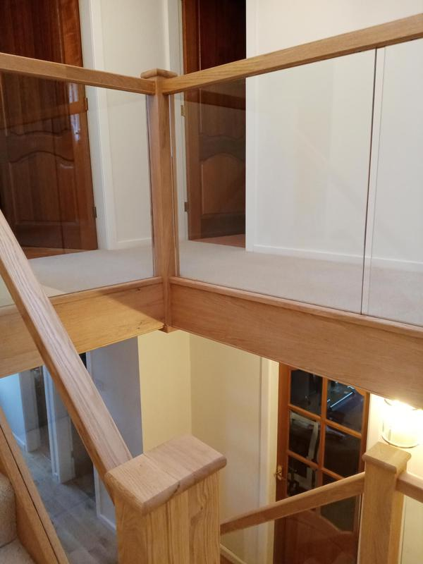 Image 9 - Stairs refurbished with oak and glass
