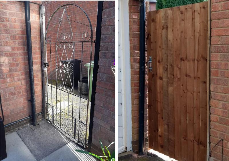 Image 8 - New gate fitted for privacy for customer