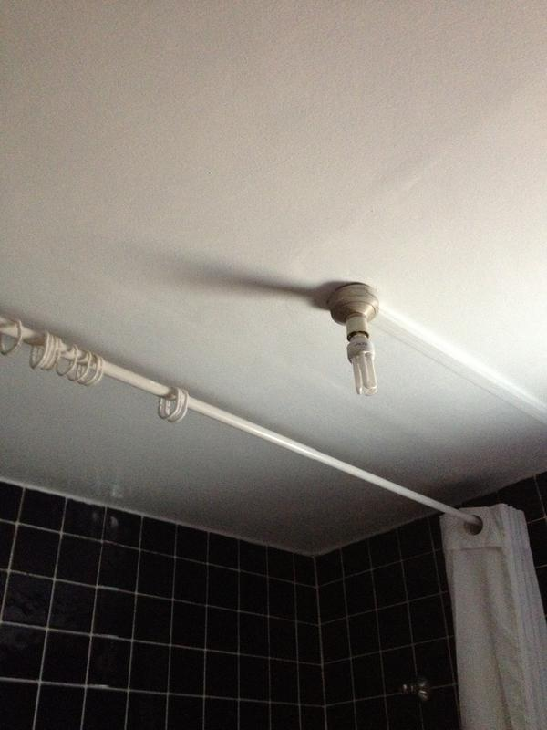 Image 7 - bathroom ceiling after mould eradiacation and anti-mould paint treatment
