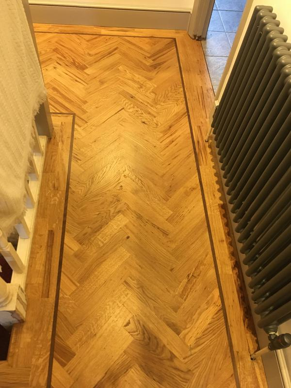 Image 16 - Oak parquet fitted and sanded with osmo hard wax oil