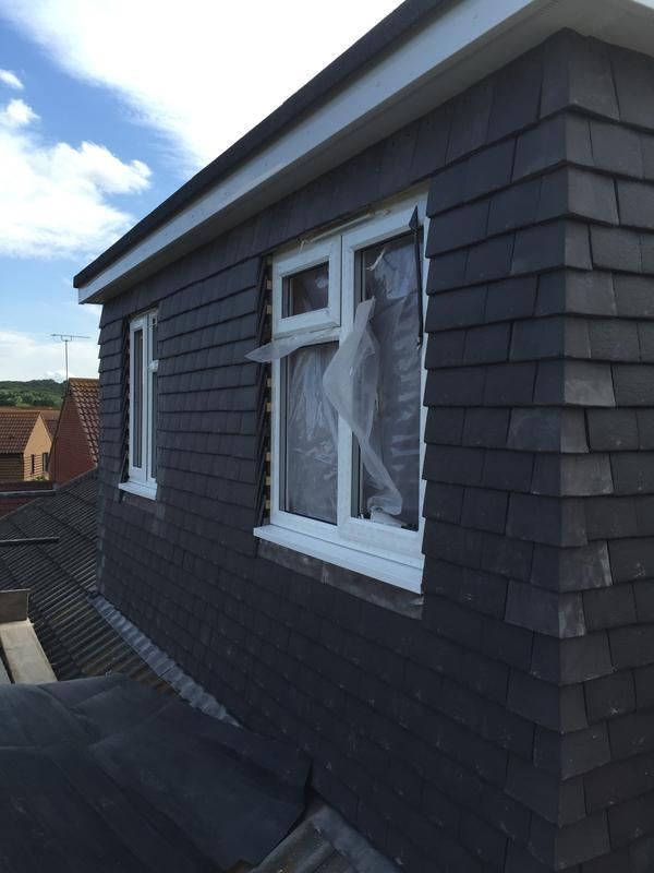 Image 50 - Dormer windows fitted and fully tiled