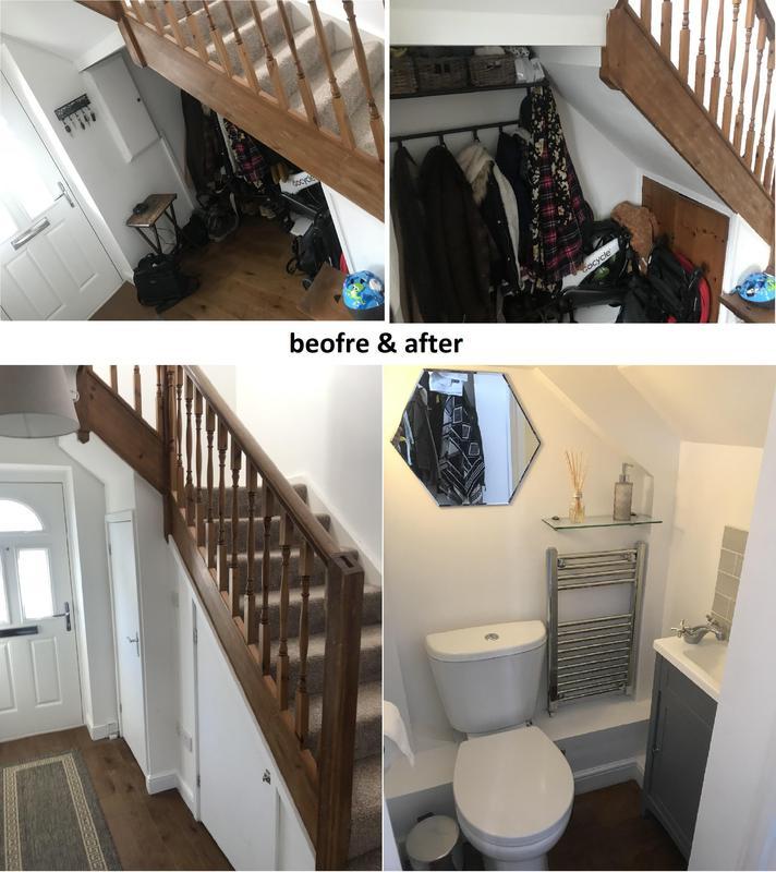 Image 52 - Under-Stair Toilet Installation In Croydon