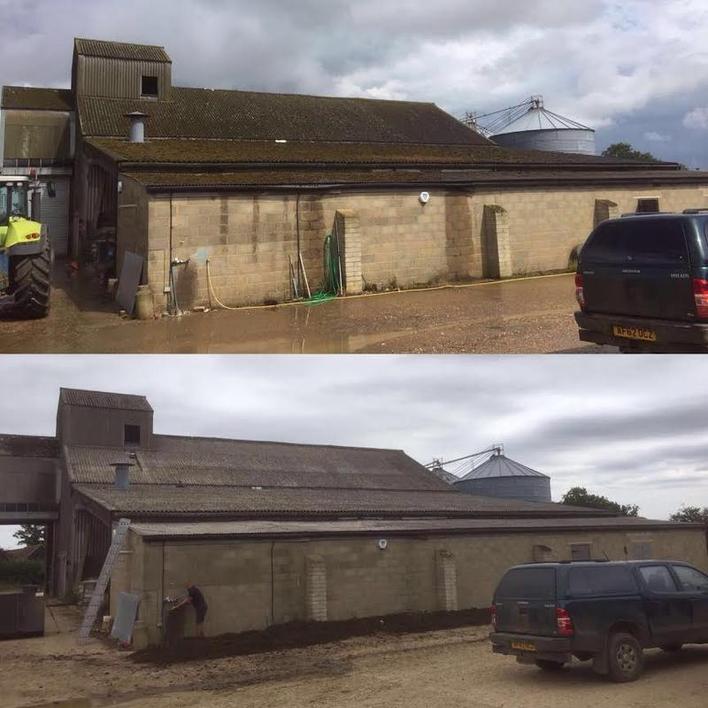 Image 54 - Before and after of 1000 square meter roof cleaned and de-mossed