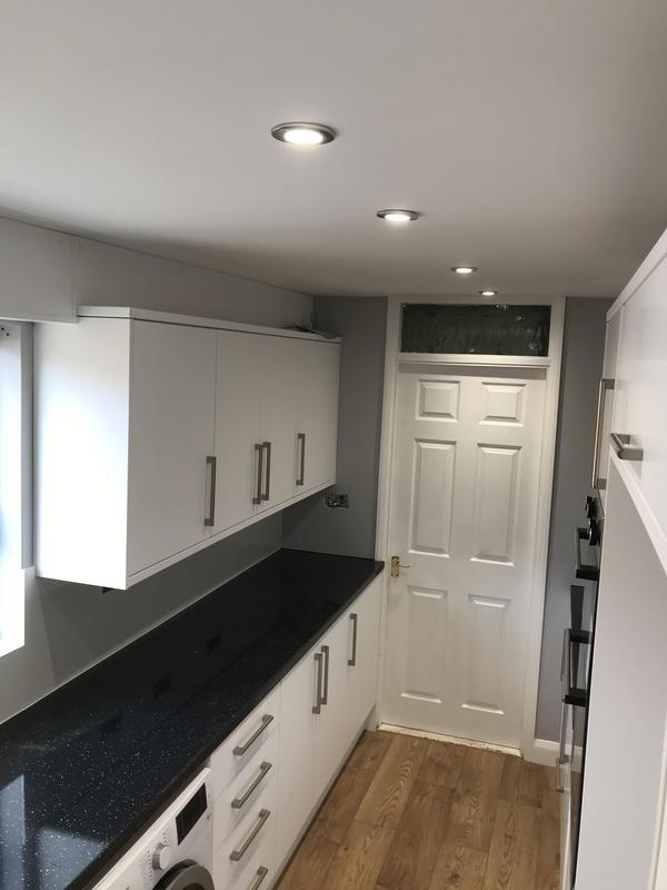 Image 18 - Customer 0124: A gally kitchen all Redesigned and fitted. We sorted the electrics, Gas, painting and kitchen fit. A little harder to take these photos due to the space.