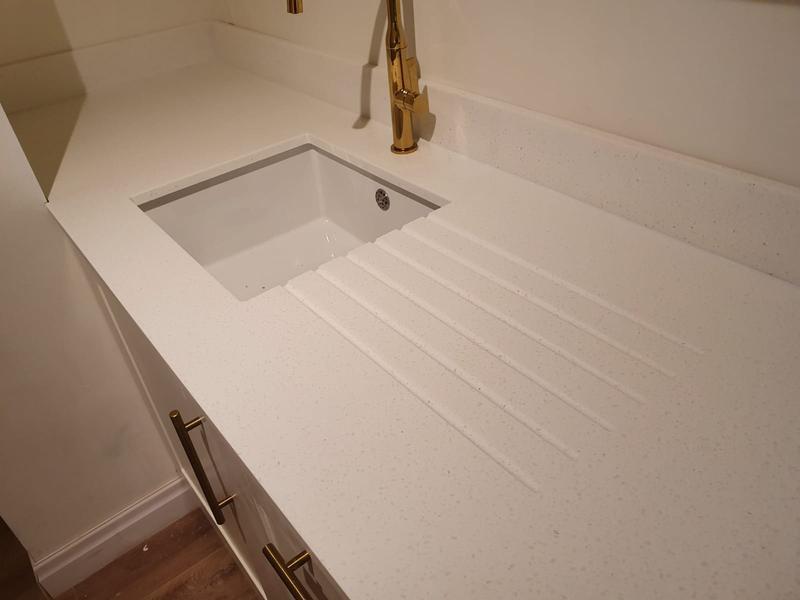 Image 5 - Apollo worktop installation with undermount sink