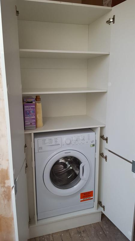 Image 17 - Bespoke utility cupboard to match kitchen and hide the washer.