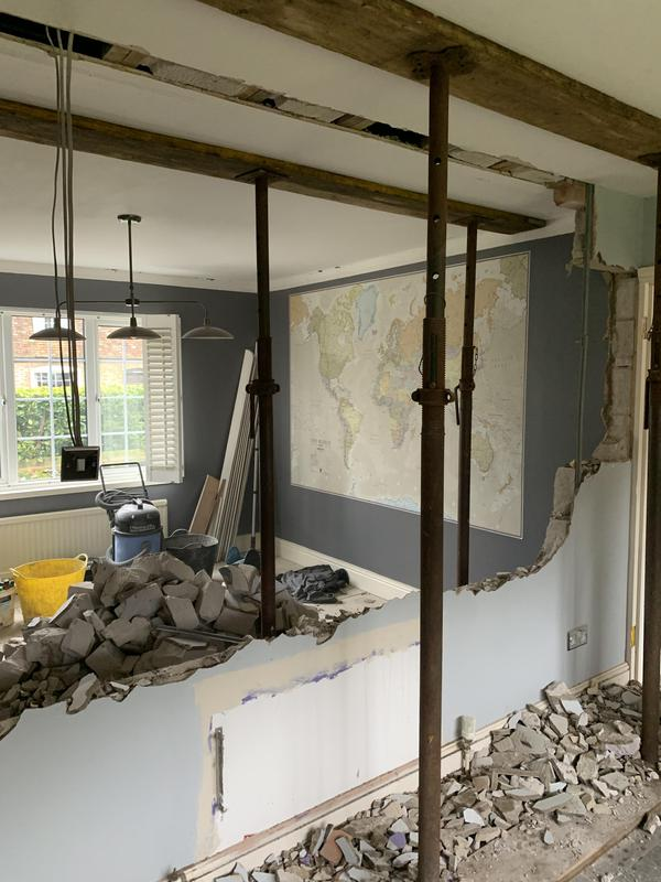 Image 12 - Wall removal between dining room and kitchen