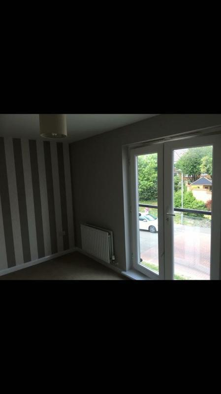 Image 34 - laura ashley feature wall with satin white wood