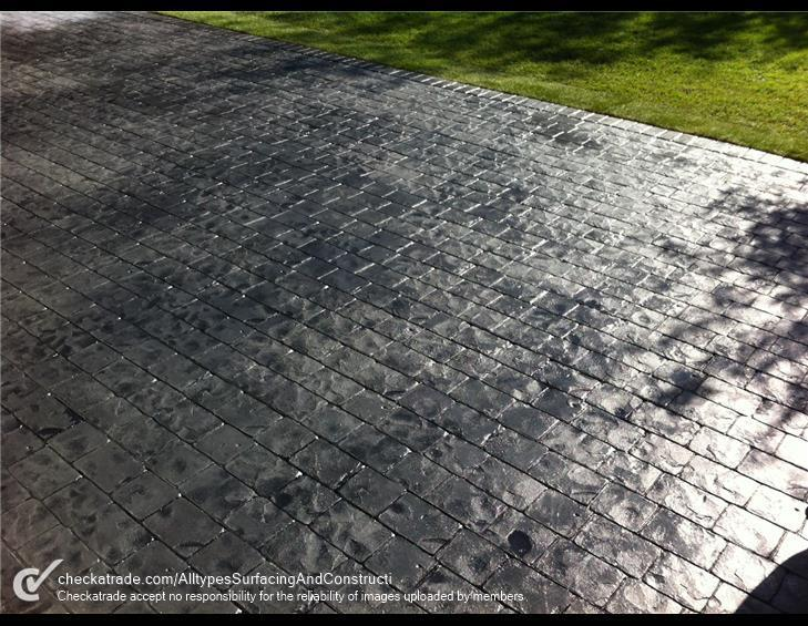 Image 11 - Pattern Imprinted Concrete patio. We used the popular 'London Cobbles' printing mats for this particular project. We have up to 6 different printing matts to choose from.