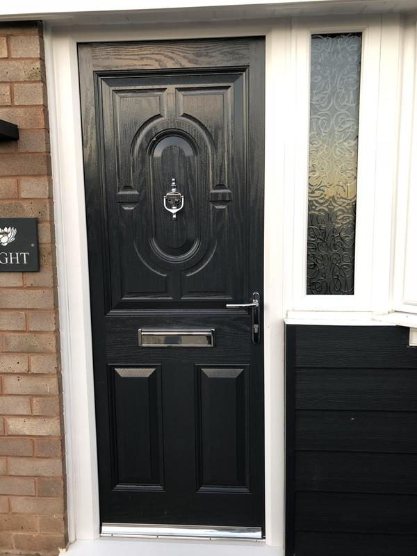 Image 2 - Composite door and side window installed in Worcester. The composite doors can be chosen to suit any design and a full colour range.