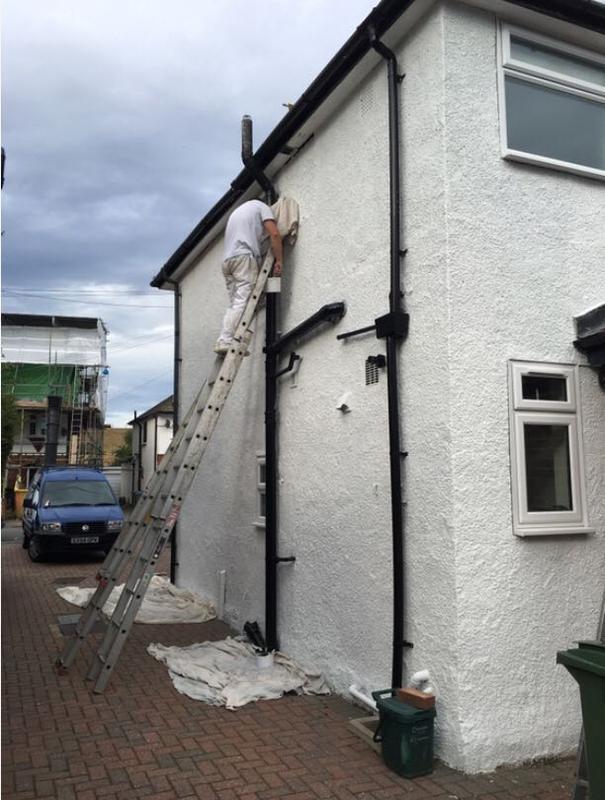 Image 14 - external repaint of a house we recently undertook
