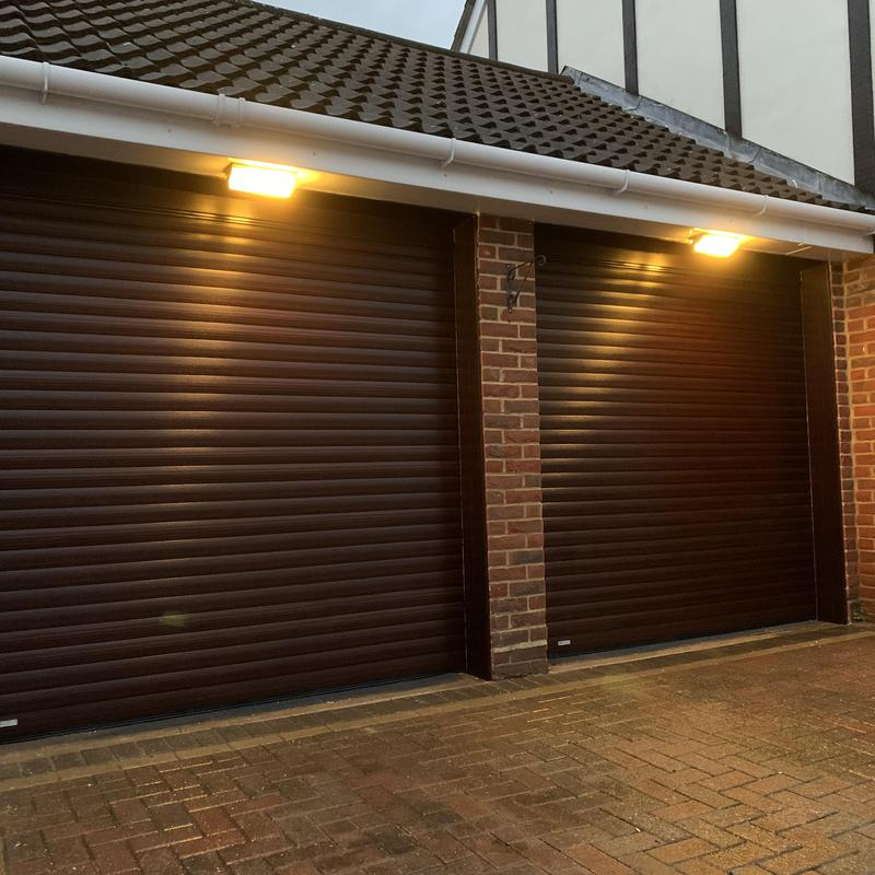 Image 12 - 2 securoglide roller shutters finished in mahogany