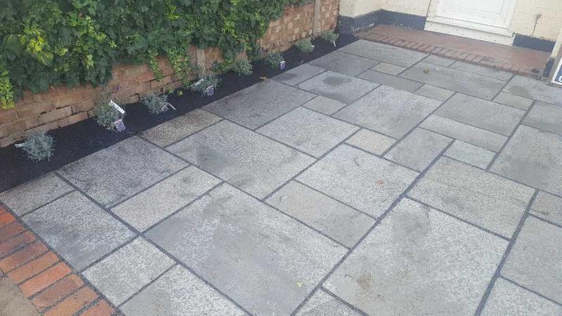 Image 27 - grey sandstone drive with flower bed