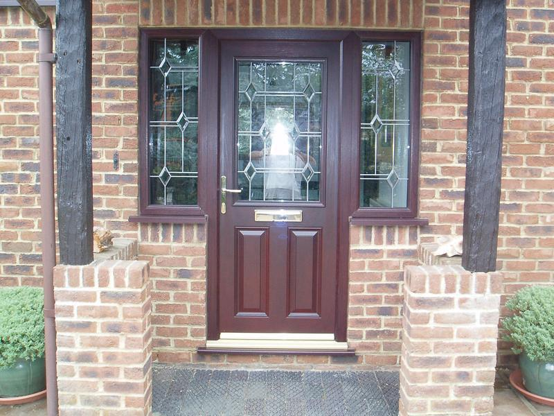 Image 41 - New brown wood grain UPVC front door