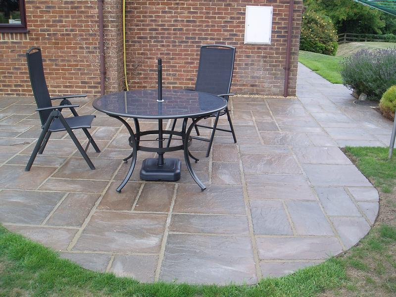 Image 42 - New patio, slabs sealed tp protect colour
