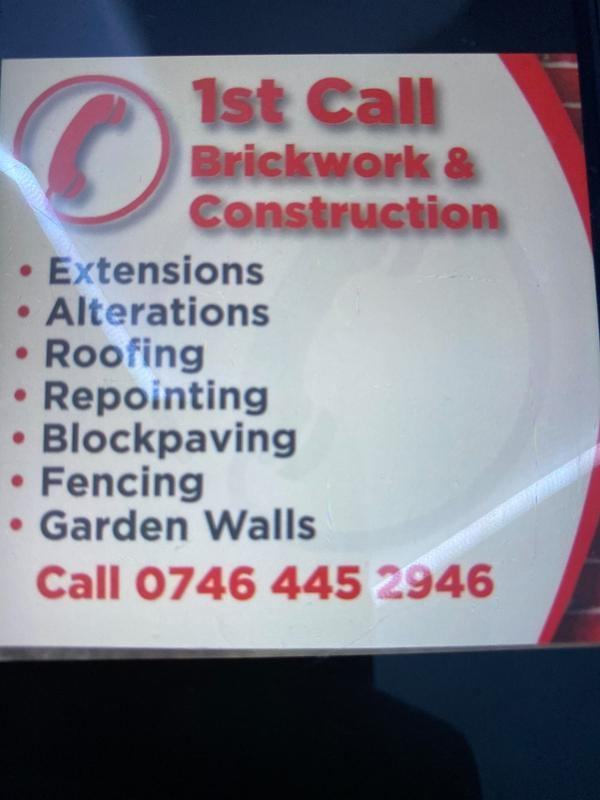 1st Call Brickwork logo