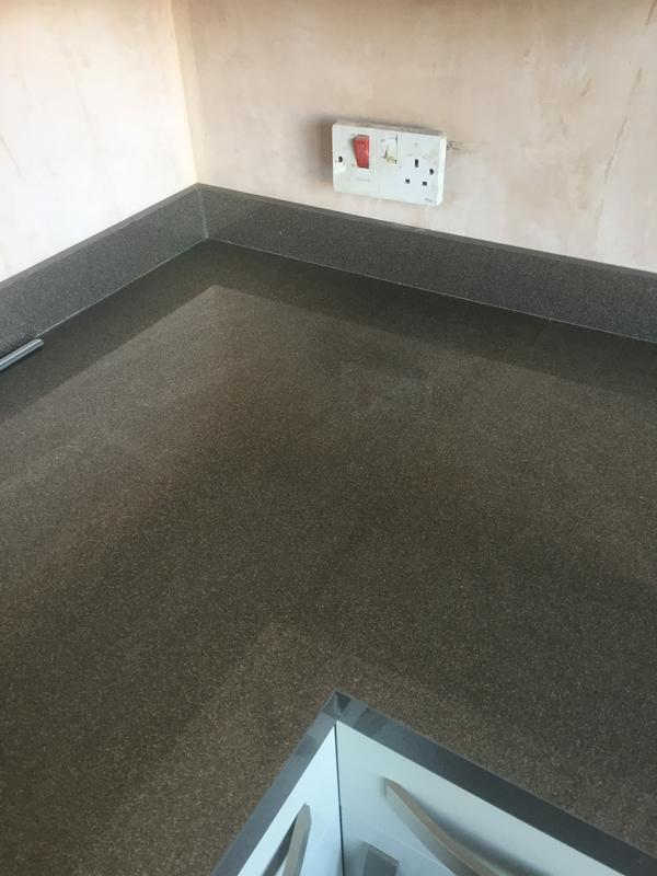 Image 7 - The joint on a high gloss worktop with matching upstand