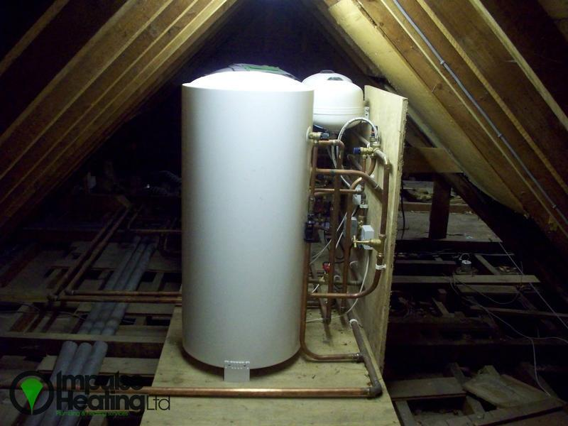 Image 21 - Two Unvented Cylinders Installed In Loft Space