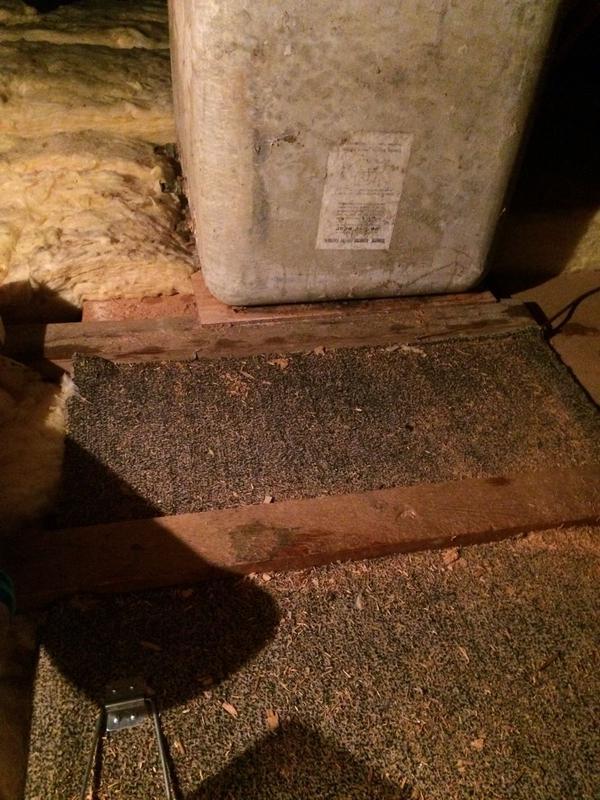 Image 11 - Asbestos Water Tank Removal - DURING