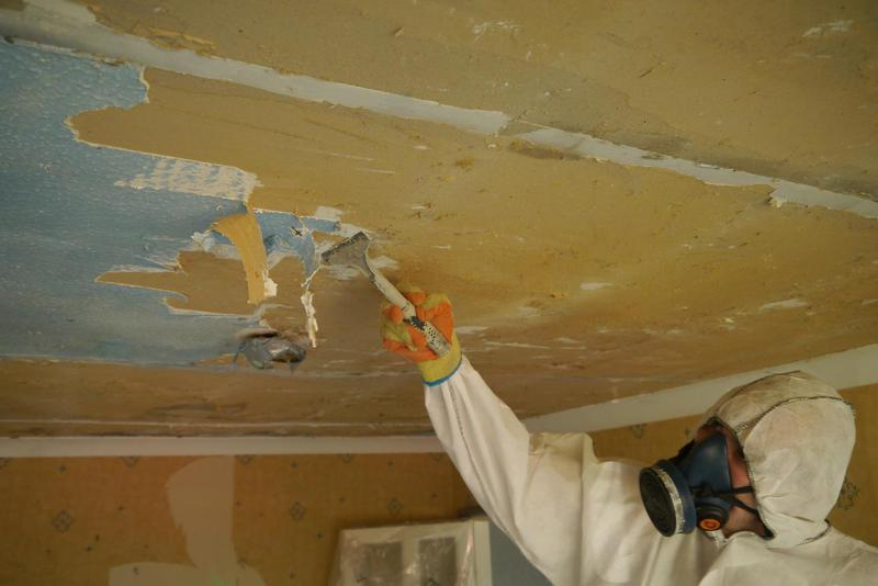 Image 25 - Asbestos Textured Coating (Artex) Removal - DURING