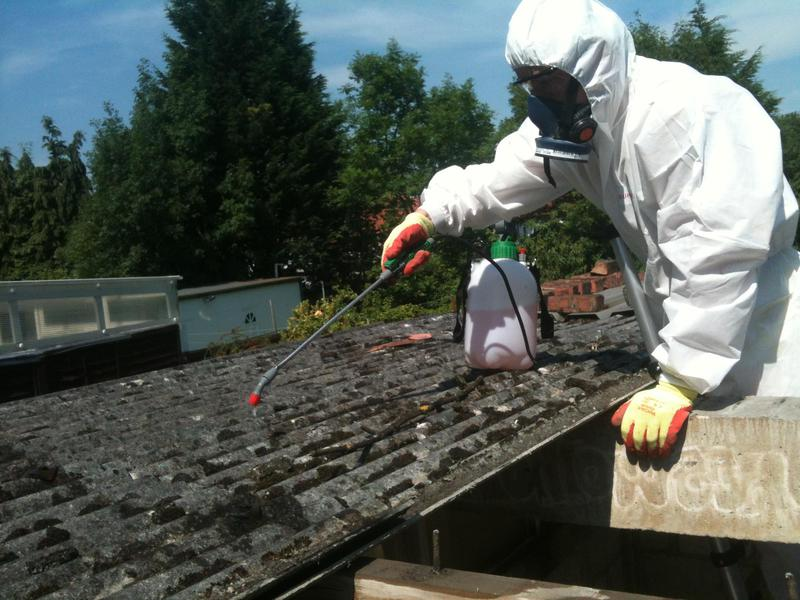 Image 44 - Asbestos Garage Roof Removal - DURING
