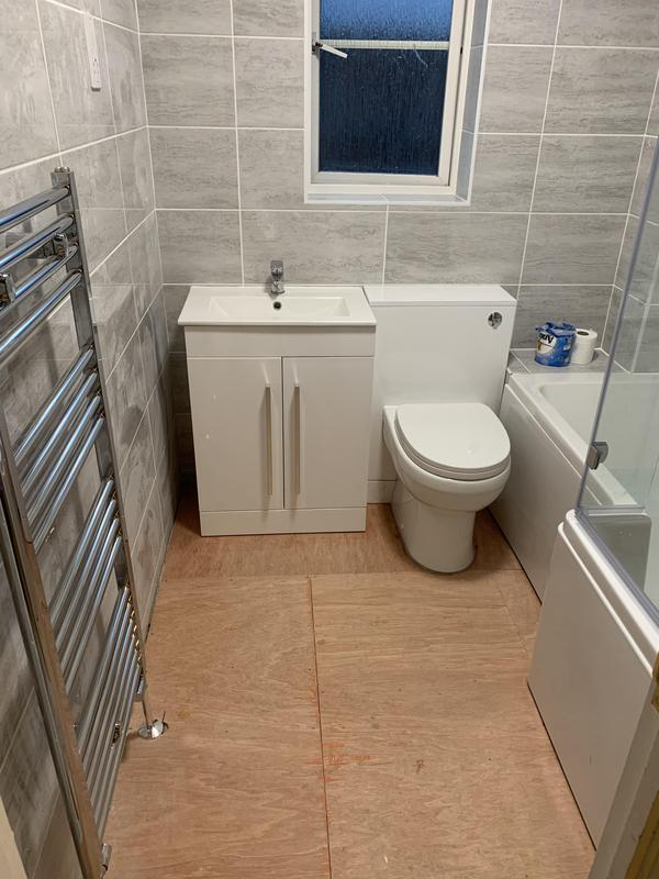 Image 29 - A brand new bathroom for a customer in St Neots.