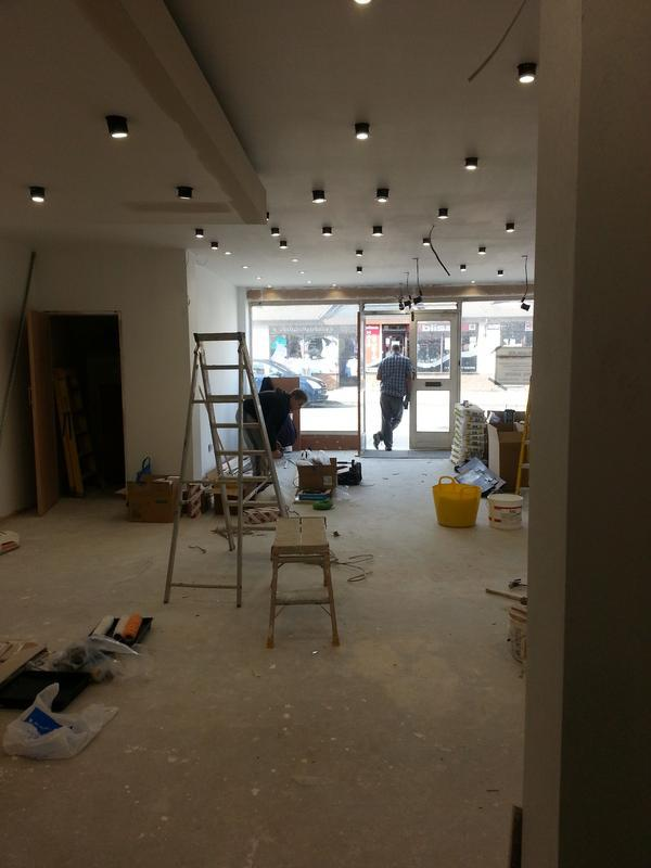 Image 14 - Complete Rewire for Messina Hairdressers Rayleigh Essex LED Spot Lights