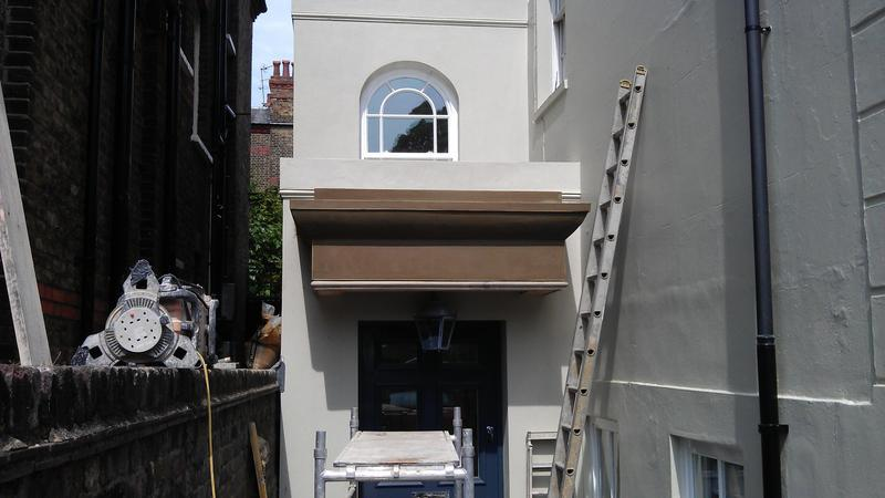 Image 42 - Another view, high polymer render to canopy, whole extension with arch!