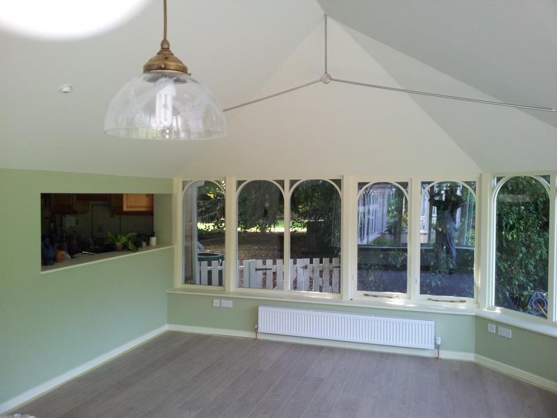 Image 2 - Internal of Garden Room Using Farrow & Ball Estate Emulsion