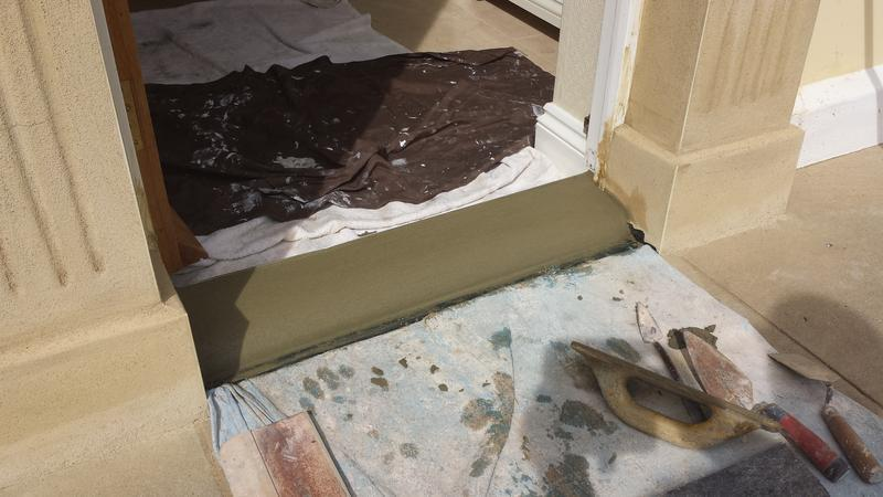 Image 25 - New very strong cement doorstep including polypropylene fibres.