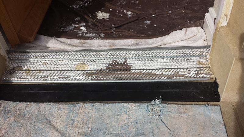 Image 24 - New cement doorstep, water was penetrating.