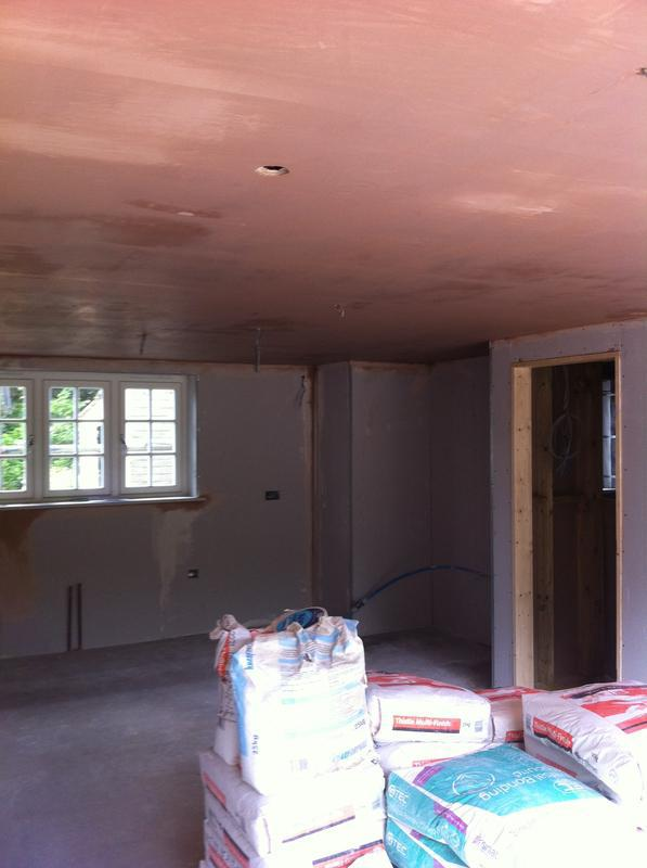 Image 17 - Kitchen extension ceiling plastered