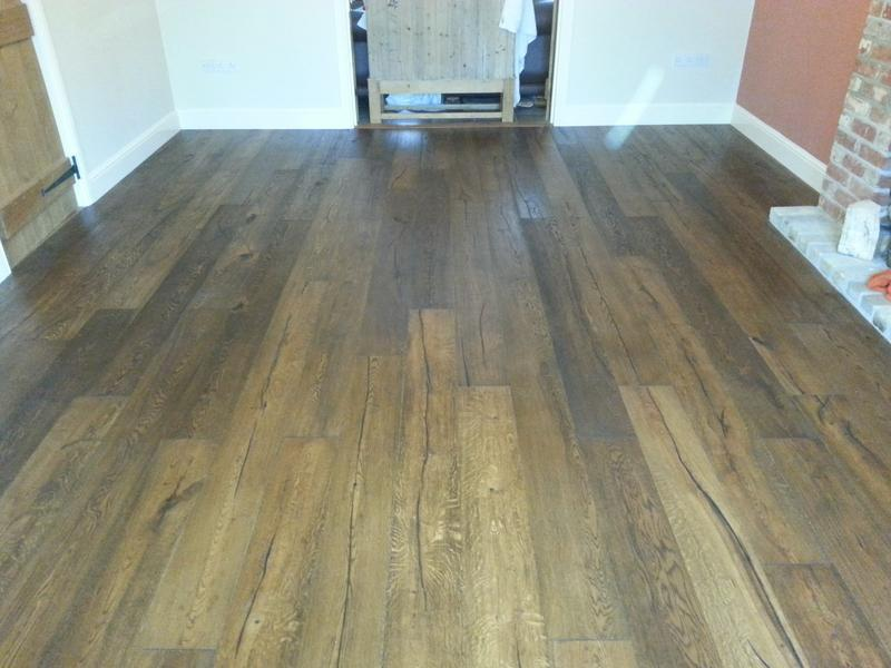 Image 34 - Distressed Oak flooring to lounge