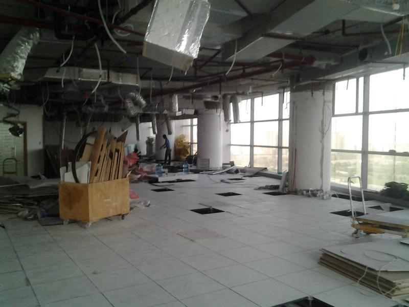 Image 96 - Rip out of an office