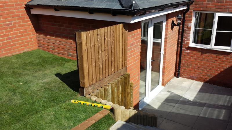 Image 8 - Closeboard Fence & Log Roll installation.