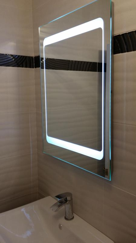 Image 46 - Beautiful LED mirror with blutooth audio connection fitted