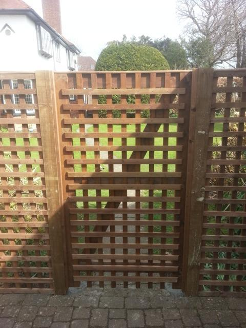 Image 7 - Bespoke trellis gate.