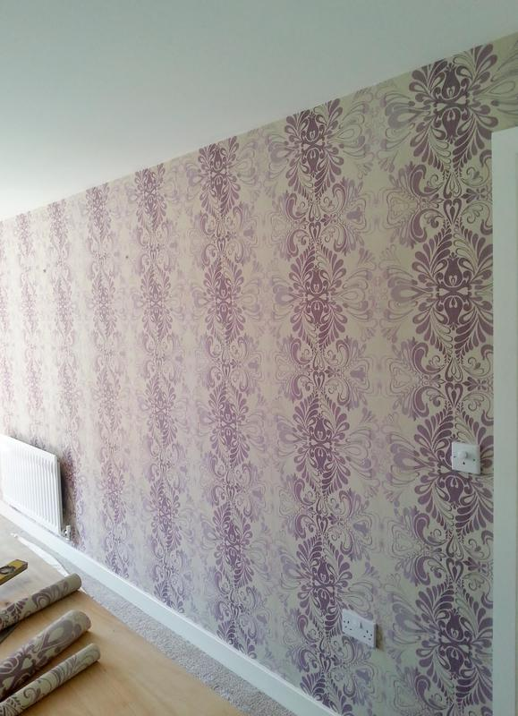 Image 11 - Feature wall papered