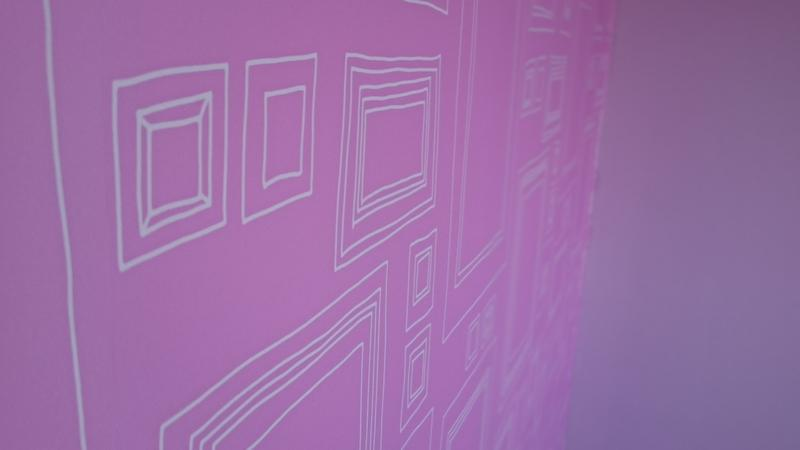 "Image 44 - Graham and Brown 'Frames' (Pink)"" wallpaper, supplemented by Dulux ""Pretty Pink"""